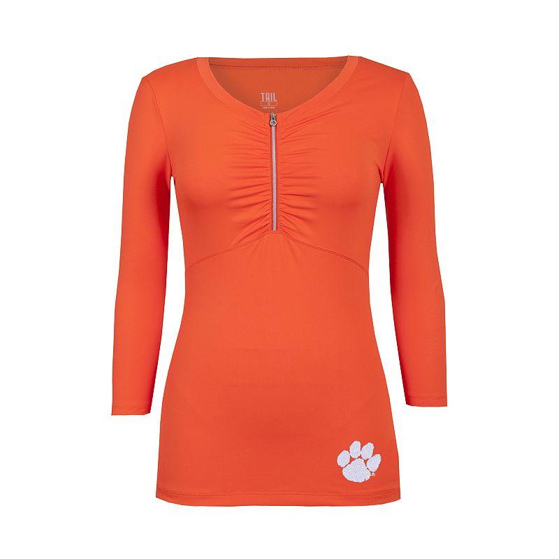 Women's Tail Clemson Tigers Rose Half-Zip Top