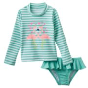 OshKosh B'gosh® Flamingo 2-pc. Rash Guard Swimsuit Set - Toddler Girl