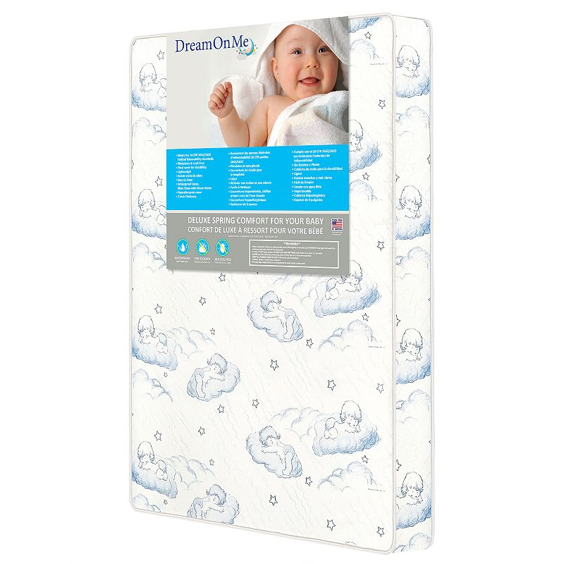 Dream On Me Spring Coil Portable Crib Mattress