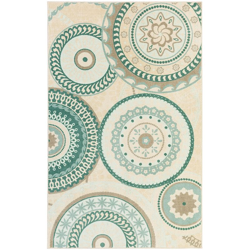 Mohawk® Home Forest Suzani Medallion Indoor Outdoor Rug