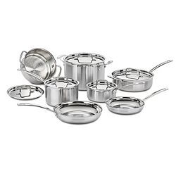 Cuisinart 12-Piece Multiclad Pro Stainless Cookware Set
