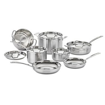 Cuisinart 12-Pc. Stainless Cookware Set