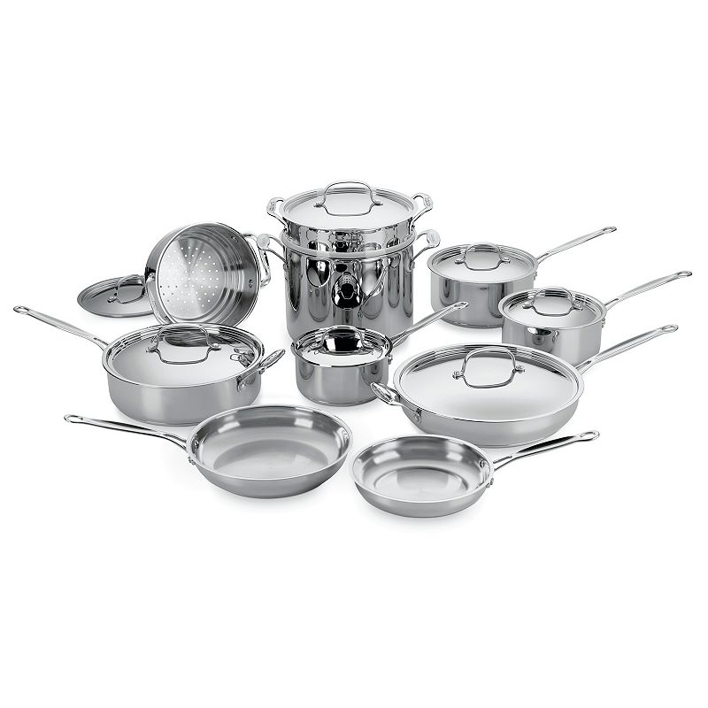 Cuisinart 17-pc. Chef's Classic Stainless Steel Cookware Set