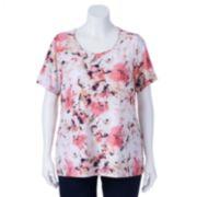Croft & Barrow® Textured Scoopneck Top - Women's Plus Size