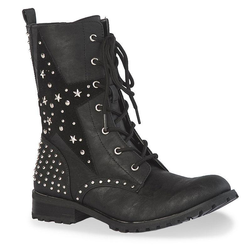 Gia-Mia Star Women's Combat Boots