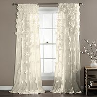 Lush Decor Riley Sheer Curtain - 54'' x 84''