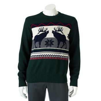 Dockers Moose Holiday Mens Sweater