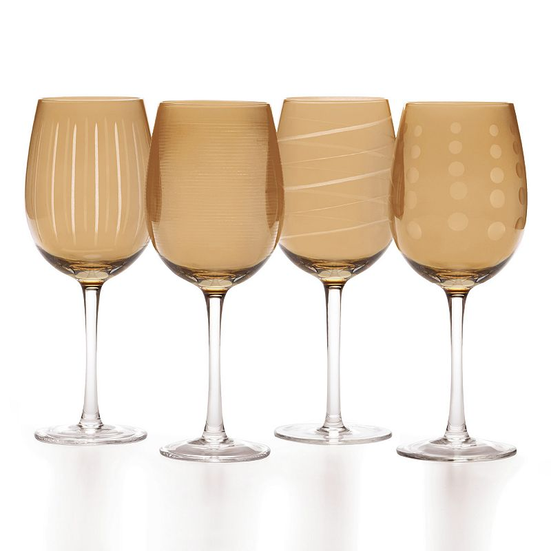 Mikasa Amber Holiday Cheers 4-pc. Wine Glass Set