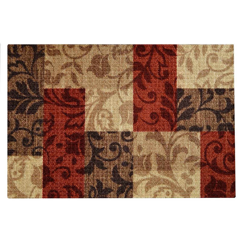 Louise Floral Patchwork Rug