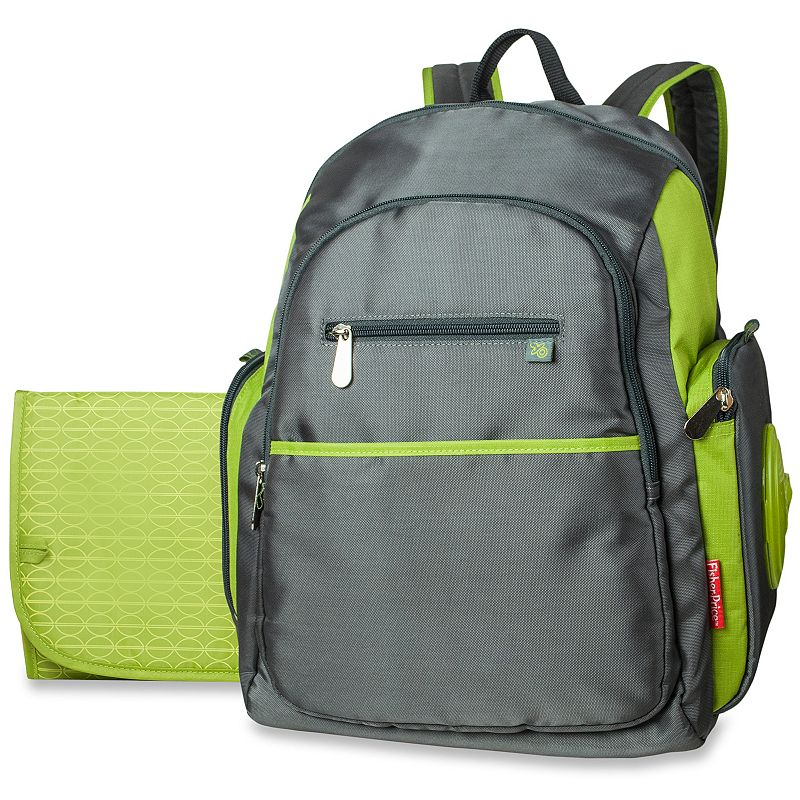 fisher price ripstop backpack diaper bag grey. Black Bedroom Furniture Sets. Home Design Ideas