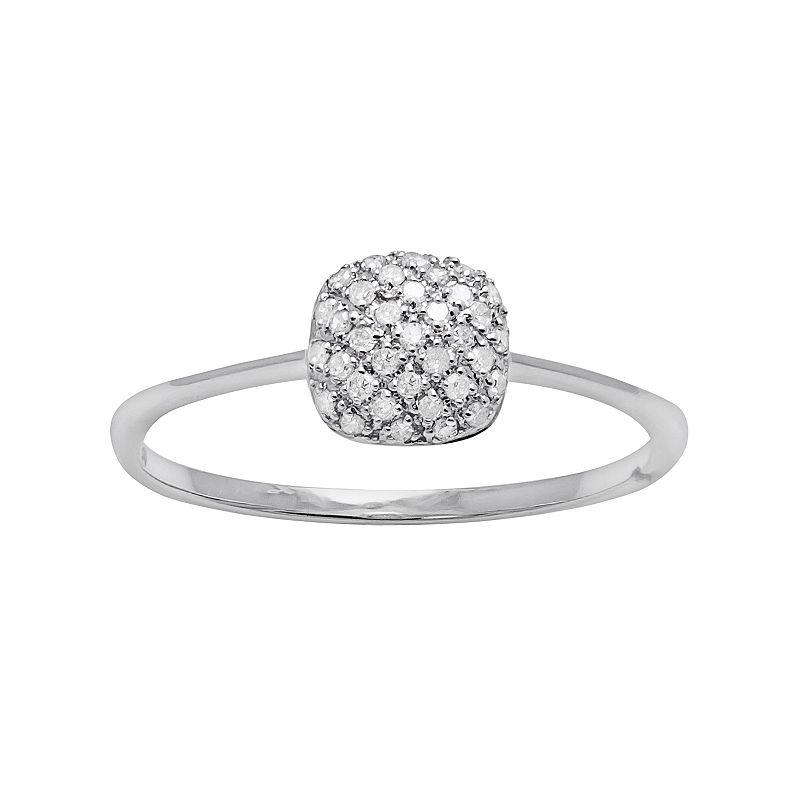 1/8 Carat T.W. Diamond 10k White Gold Cluster Ring