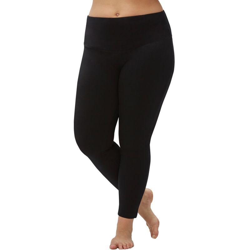Plus Size Marika Tummy Control High Waist Yoga Leggings, Women's, Size: 3XL, Black