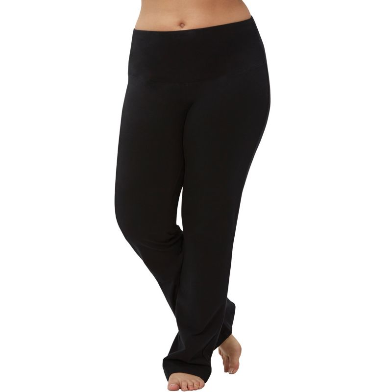 Plus Size Marika Tummy Control High Waist Yoga Pants, Women's, Size: 3X, Black
