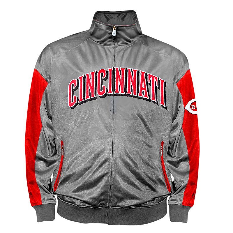 Big & Tall Cincinnati Reds Tricot Track Jacket