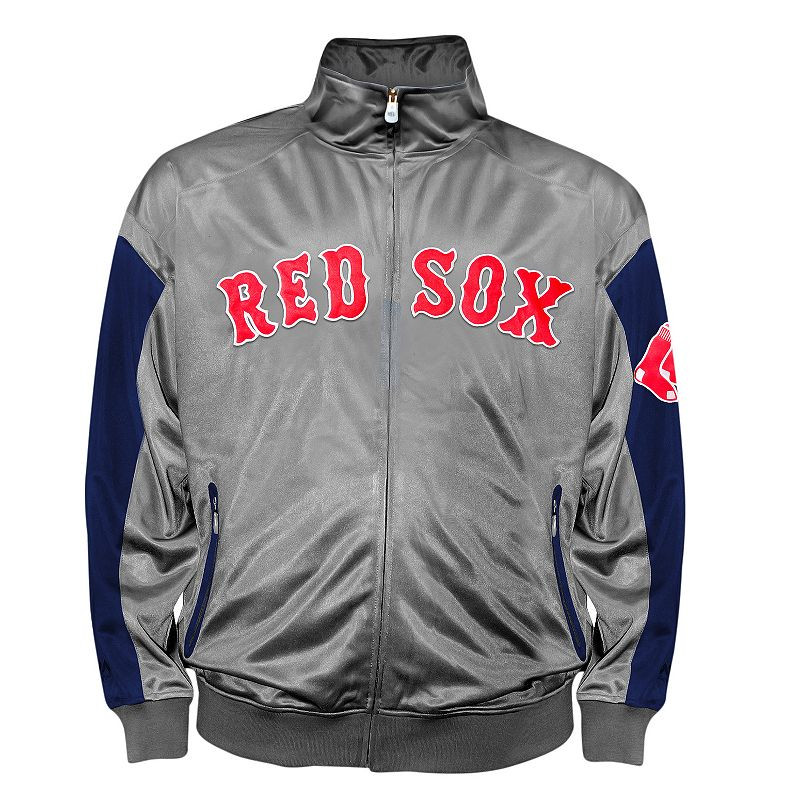 Big & Tall Boston Red Sox Charcoal Tricot Track Jacket
