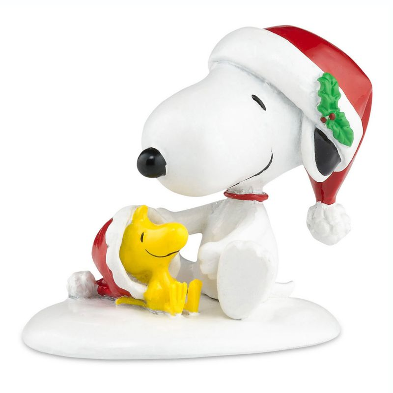 Department 56 Peanuts Snoopy and Woodstock Happy Holiday Christmas Decor, Multicolor