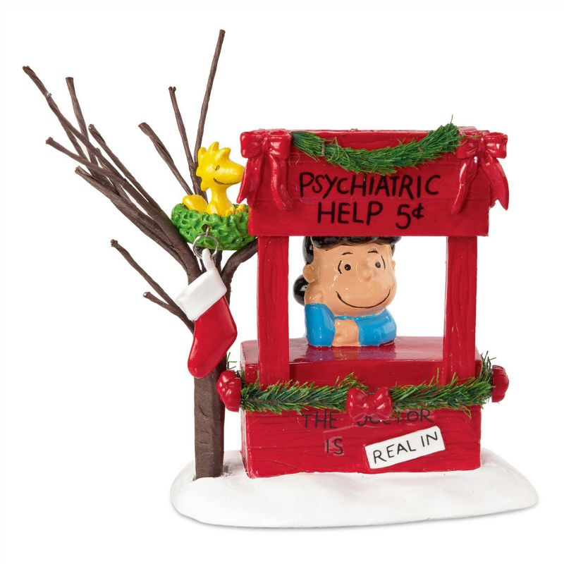Department 56 Peanuts Lucy Is In Christmas Decor, Multicolor