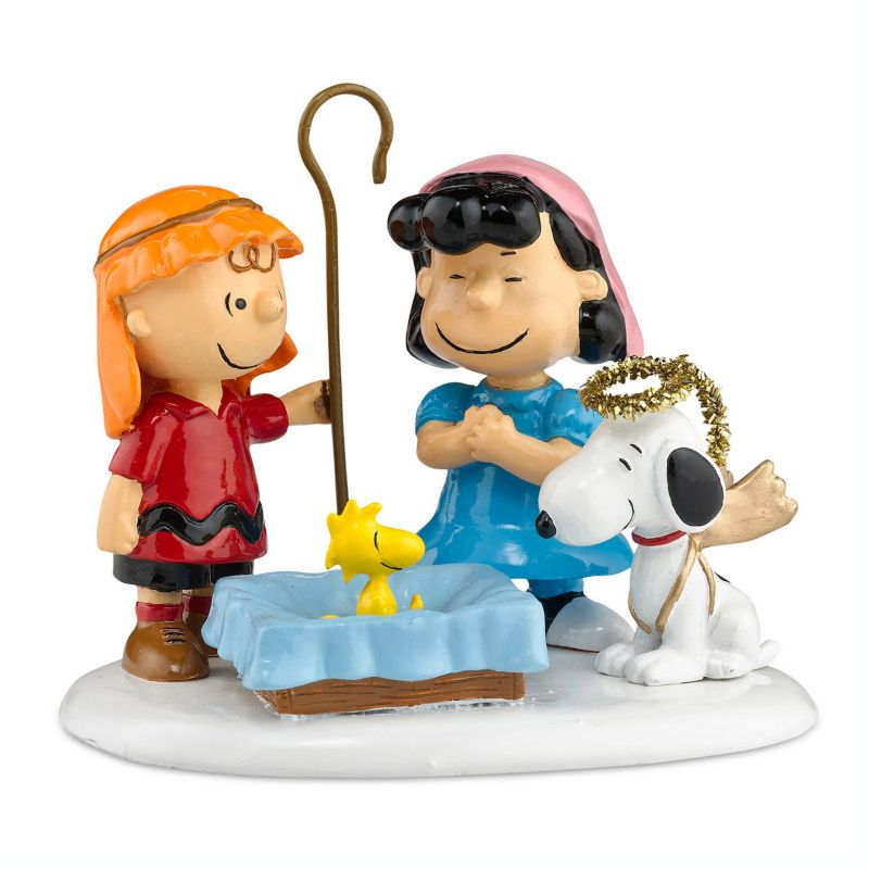 Department 56 Peanuts Charlie Brown Pageant Christmas Decor, Multicolor