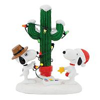 Department 56 Peanuts Spike & Snoopy's Christmas Decor