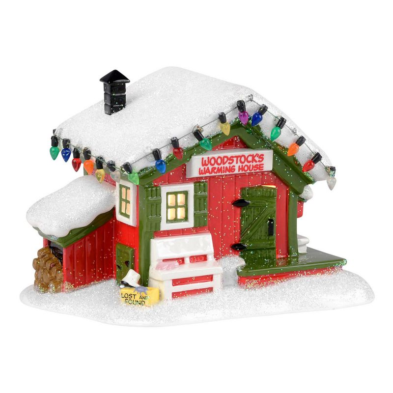 Department 56 Peanuts Woodstock's Warming House Christmas Decor ()