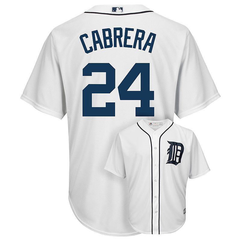 Men's Majestic Detroit Tigers Miguel Cabrera Cool Base Replica MLB Jersey