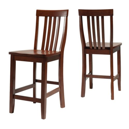 Crosley Furniture 2 Piece School House Counter Stool Set