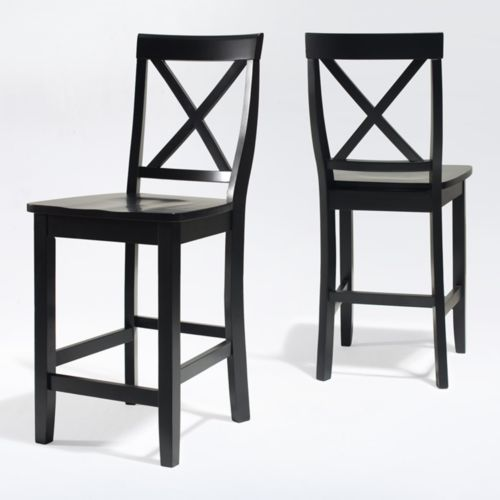 Crosley Furniture 2 piece X Back Counter Chair Set