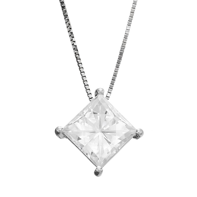 Forever Brilliant 2 1/10 Carat T.W. Lab-Created Moissanite 14k White Gold Pendant Necklace