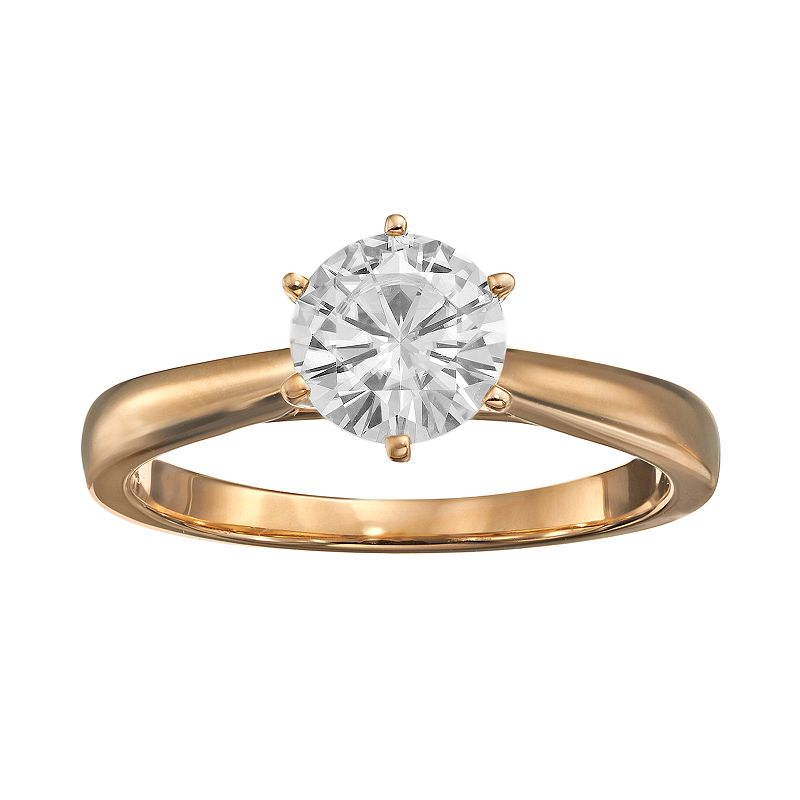 Forever Brilliant 1 Carat T.W. Lab-Created Moissanite 14k Gold Solitaire Ring