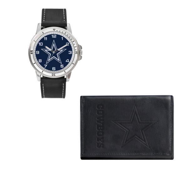 Dallas Cowboys Watch & Trifold Wallet Gift Set