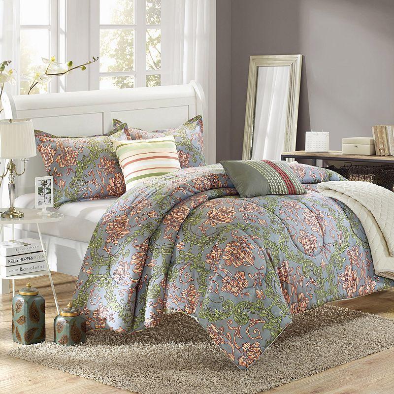 Antica 6-pc. Luxury Reversible Comforter and Quilt Set