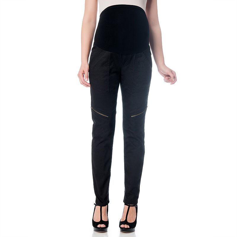 Oh Baby by Motherhood™ Secret Fit Belly™ Cargo Twill Pants - Maternity