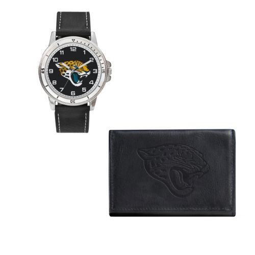 Jacksonville Jaguars Watch & Trifold Wallet Gift Set