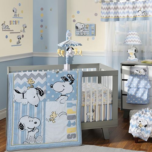 Peanuts My Little Snoopy 4 Pc Crib Bedding Set By Lambs Amp Ivy