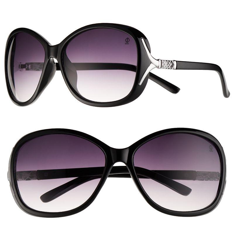 Jennifer Lopez Snake Leather Square Sunglasses - Women