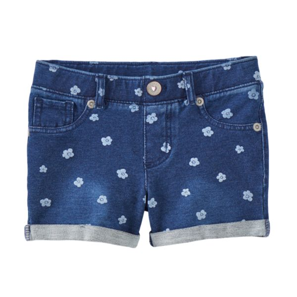 Girls 4-7 SONOMA Goods for Life™ Knit Denim Floral Shorts
