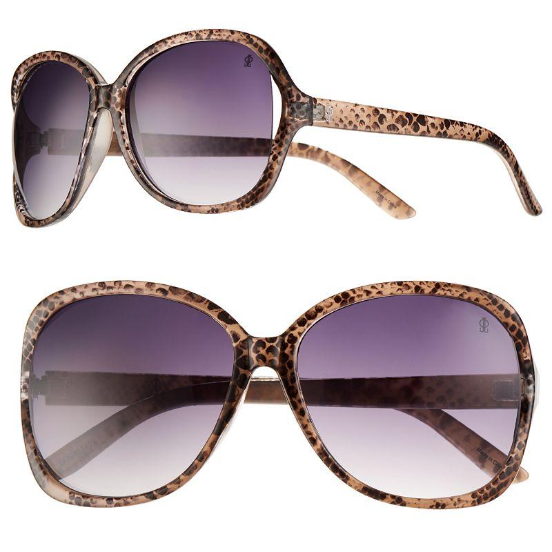 Jennifer Lopez Innocent Vented Oversized Square Sunglasses - Women