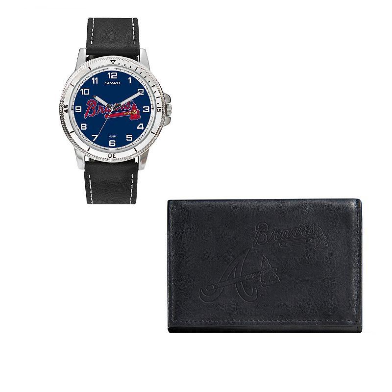 Atlanta Braves Watch & Trifold Wallet Gift Set