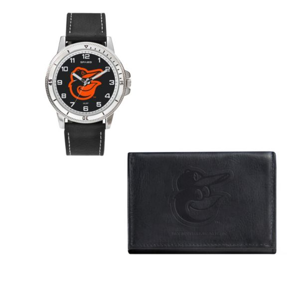 Baltimore Orioles Watch & Trifold Wallet Gift Set
