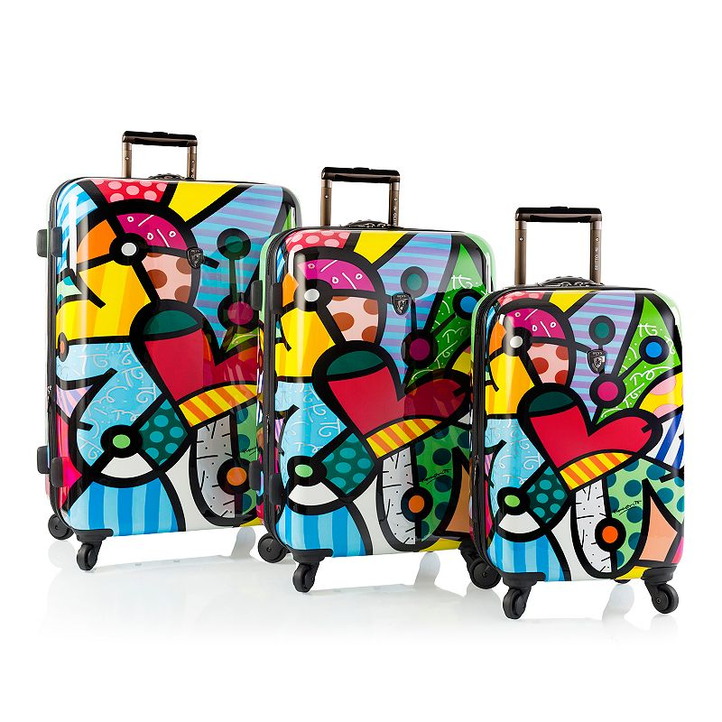 Heys Britto Butterfly Love 3-Piece Hardside Spinner Luggage Set