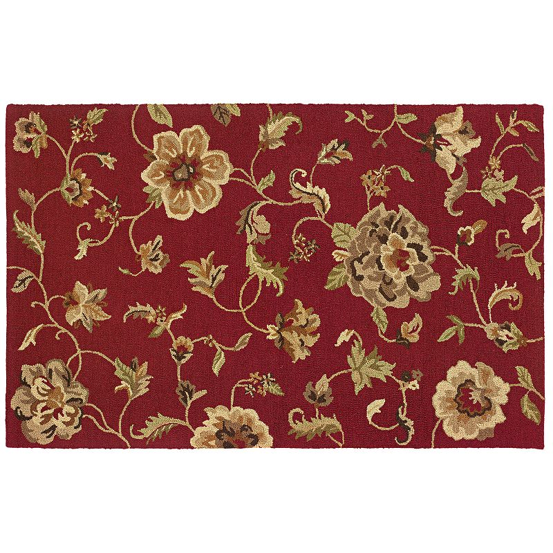 L.R. Resources Dazzle Roses Rug