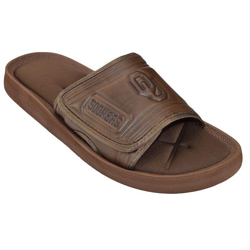 Adult Oklahoma Sooners Memory Foam Slide Sandals