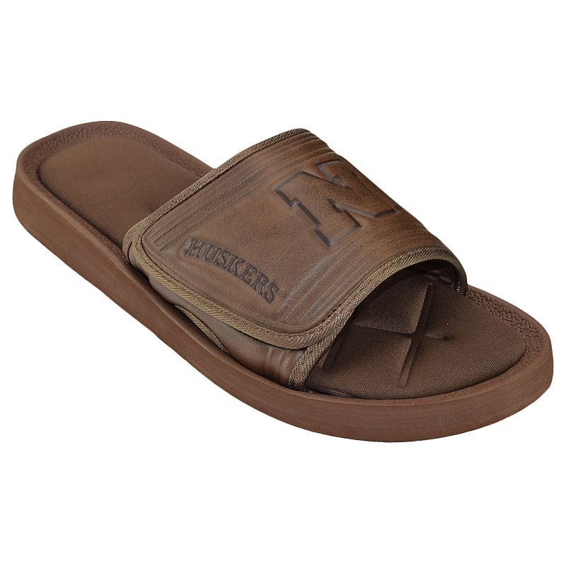 Adult Nebraska Cornhuskers Memory Foam Slide Sandals
