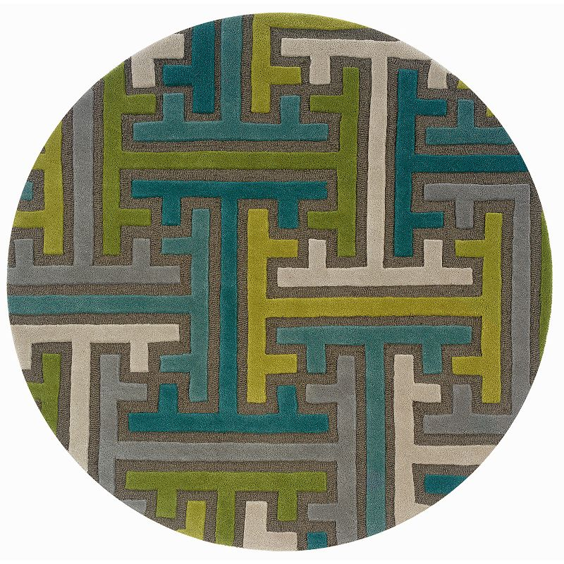 L.R. Resources Vibrance Bold Geometric Wool Rug