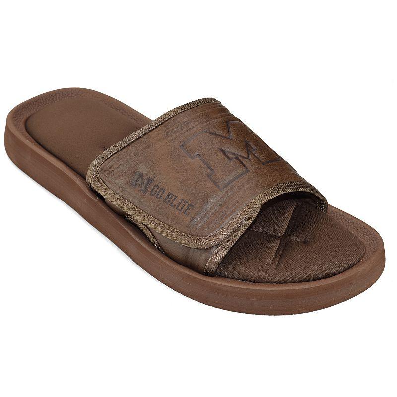 Adult Michigan Wolverines Memory Foam Slide Sandals