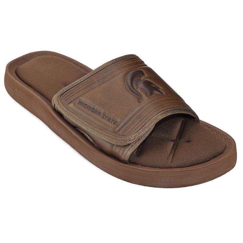 Adult Michigan State Spartans Memory Foam Slide Sandals