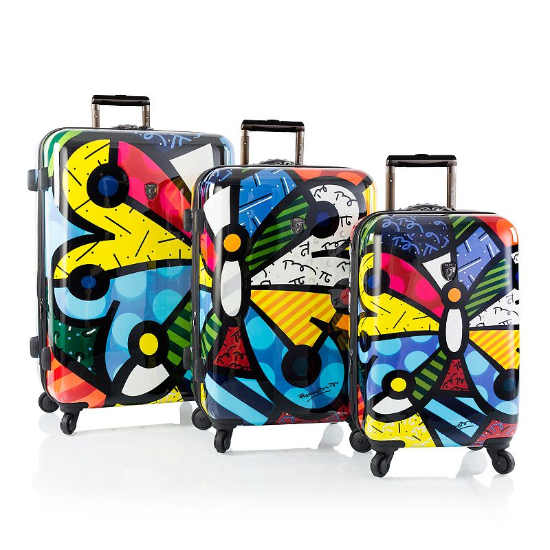 Heys Britto Butterfly 3-Piece Hardside Spinner Luggage Set