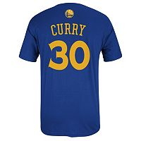 adidas Golden State Warriors Stephen Curry Player Name and Number Tee - Men