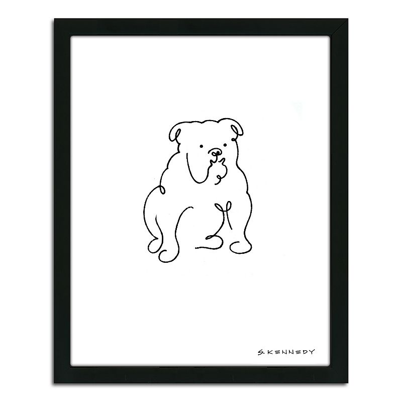Line Drawing Wall Art : Boxer line drawing  framed wall art dealtrend
