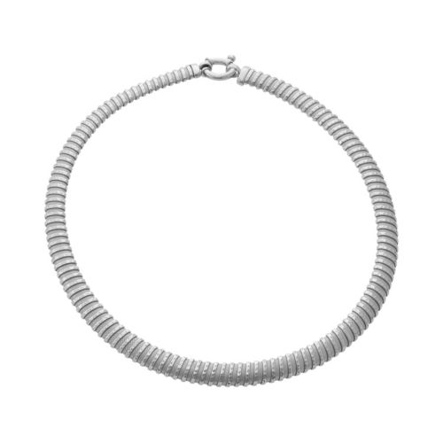 Sterling Silver Mesh Coil Necklace